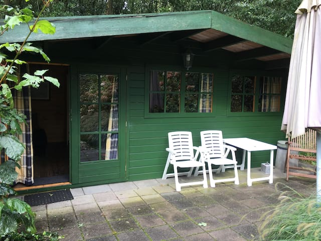 Blokhut in de bossen van Hoornsterzwaag