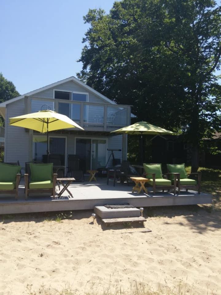Beachfront Cottage on Lake Michigan