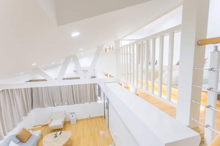【域间·极】轻奢日系套房|复式loft阁楼|黄兴步行街旁|近五一广场