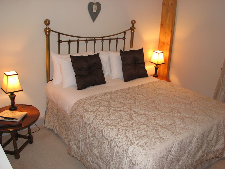 This is room `Findhorn`, the largest of our smaller `double standard rooms with en-suite walk-in shower within the original house, some 120 years old), however view out it not as good as others we have which are a little smaller