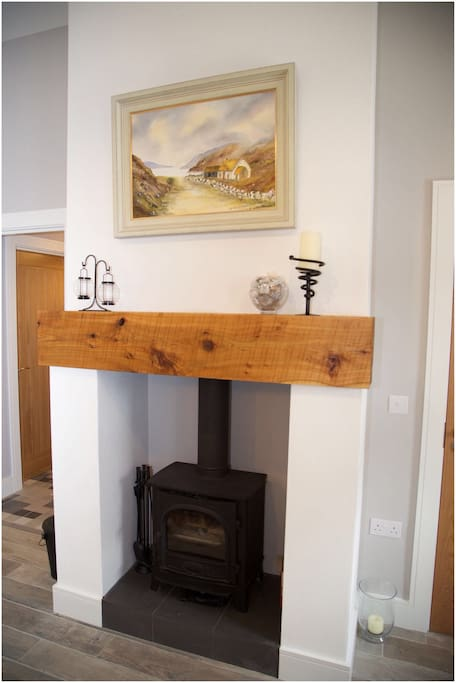 Easy to use stove to add a cosy feeling to the cottage