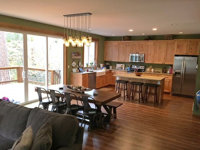 Enjoy the open floor plan and view of the river!