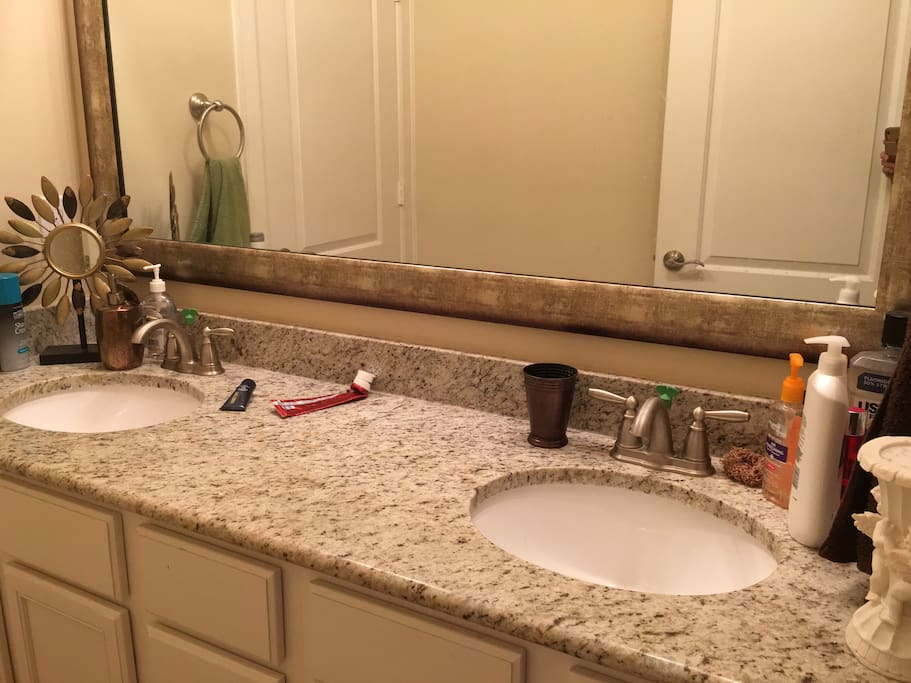 clean large bathroom