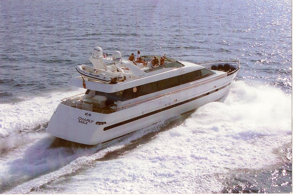 The Motor-Yacht at open sea ....