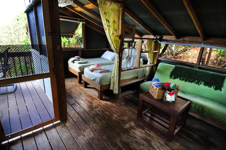 Virgin Islands Campground - 2 Twin Beds & Double futon - Eco-Friendly
