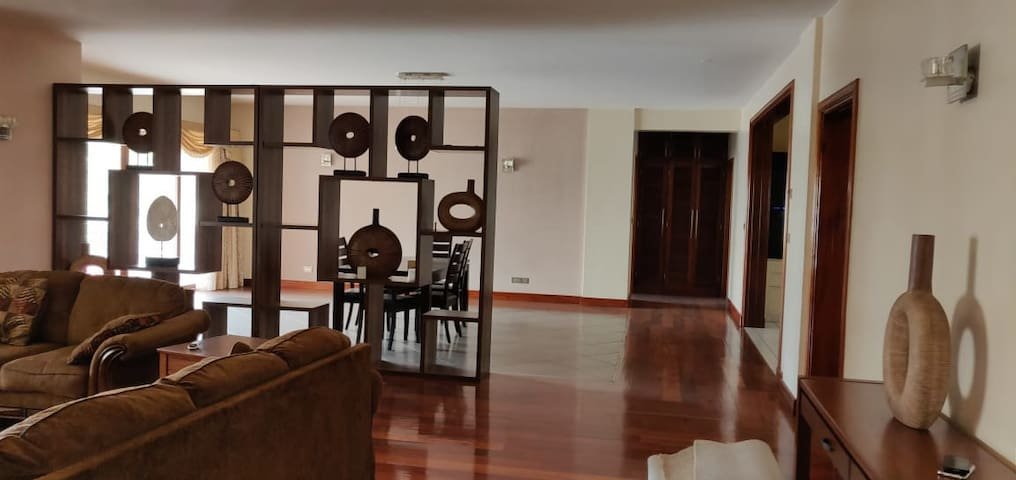 Spacious, secured, fully furnished apartment