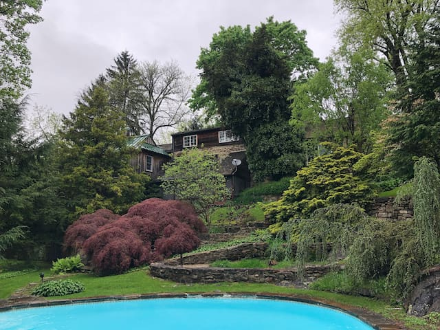 View of house from behind the pool