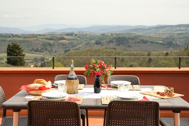 Perfect Tuscan Villa-Sweeping Chianti Valley Views - San Casciano in Val di pesa - Villa
