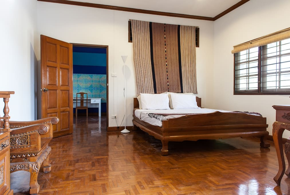 Large private room fully furnished with beautiful teak furniture