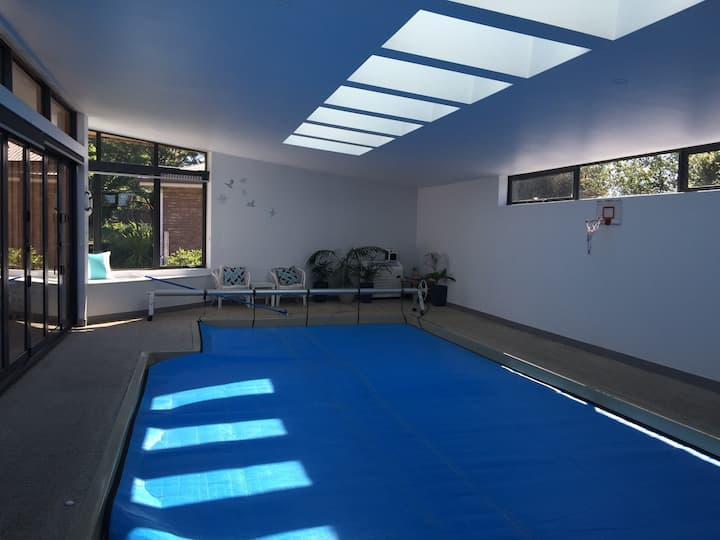 Self -contained apartment with indoor pool.