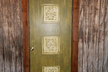 Our cabin front door. It was reproduced for the replica too.