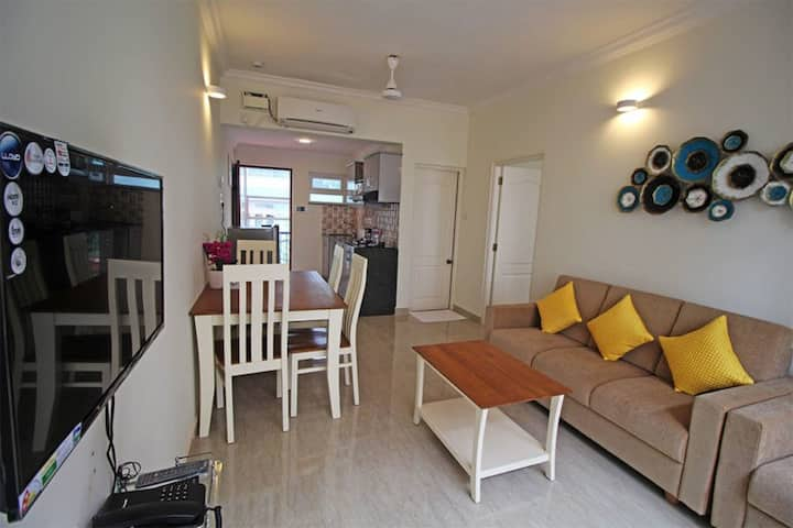 Cozy Luxury Apartment walkable to Calangute Beach⛱