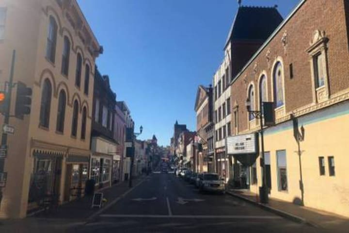 Looking at Historic Downtown Staunton from the corner of Market Street, less than 600 feet from our house. Make sure to grab a coffee or a beer in the beer garden at The By&By right on the corner!