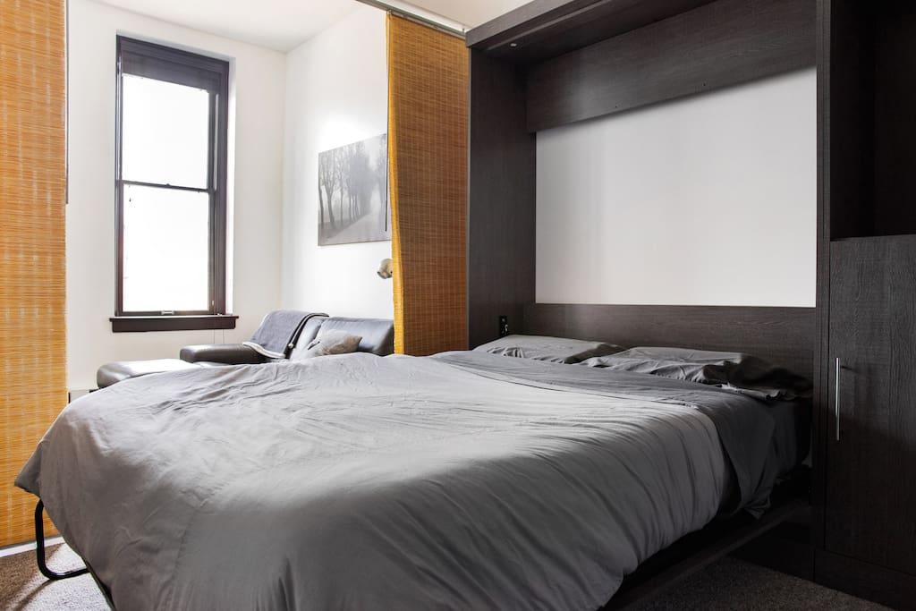 Fold out Murphy Bed with Casper Memory Foam Mattress