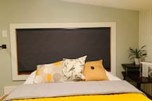 """Blackout blinds in the """"Birdnest"""" loft bed area to give you the comfort and privacy to help with a good nights sleep!"""