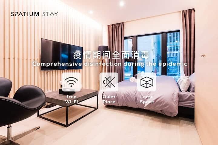 【长租特惠】Spatium1F 酒店时尚大空间、安全清洁防疫、银座/築地、欢迎情侣/家庭入住