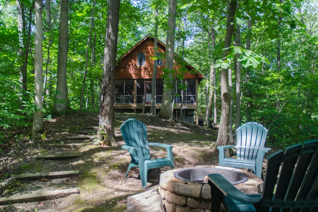 Cozy quiet cabin on seneca lake cabins for rent in penn for New york cabin