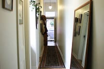 Hallway looking out to the front of the house