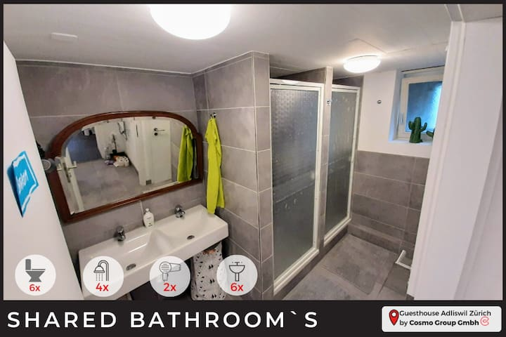 Sparkling clean Bathrooms is what you see and its what you get.  Now, not everybody is into shared bathrooms we know.  We considered it our mission to keep them as clean as possible all time so that you can have a nice relaxing experience.