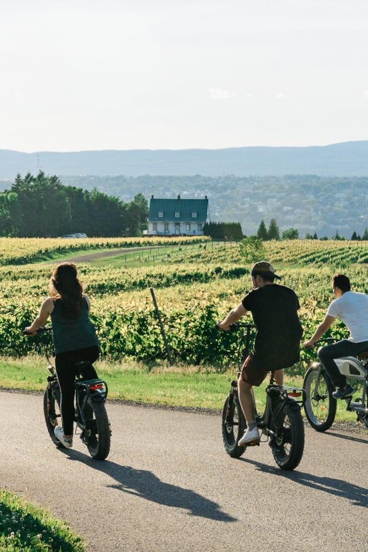 Cycle through peaceful farming villages