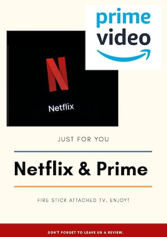 Complimentary Netflix and Prime Video