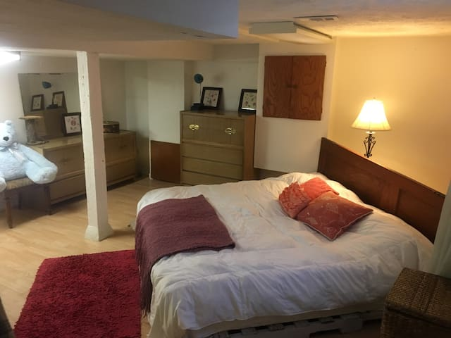 King size bed in basement - Omaha - Hús