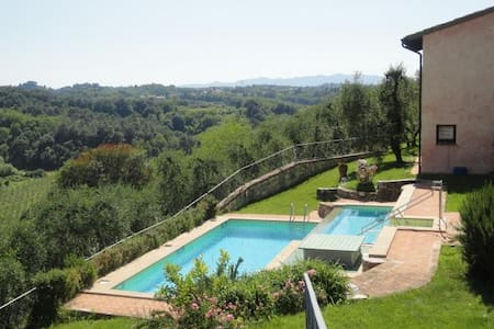 Cosy, panoramic 4 pax apartment with pool - Le Selve
