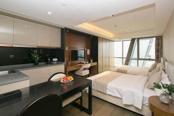 「 栖迟 」Room1· 舒适双床可住4人/德国风情街/劈柴院/中山路
