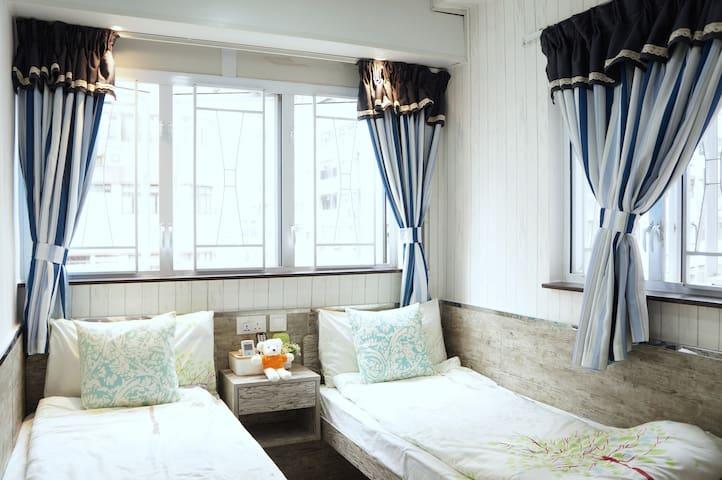 #3 Bright Twin Room in Tsim Sha Tsui