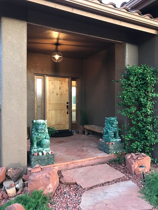 The front entrance to Sedona Heart Home