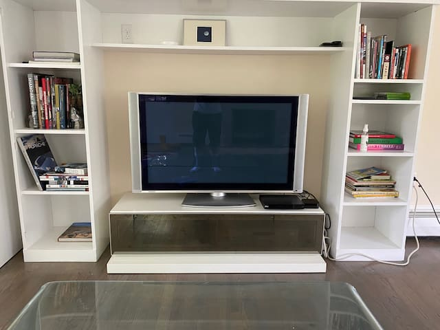 TV with Netflix on Apple TV, DVD player
