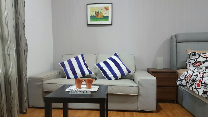 Holiday mood is on with the comfy & large two-seater sofa ;)