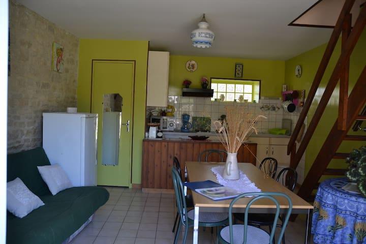 GITE LILAS AU CALME AVEC COUR - Graye-sur-Mer - Wohnung