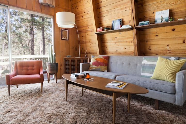 Treehouse Vibes–Forest Backyard Mid-Century Modern - Big Bear - Cottage