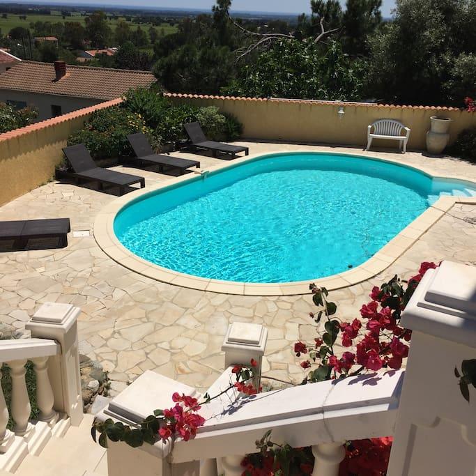 Villa de charme avec piscine privee villas louer - Villa avec piscine corse ...