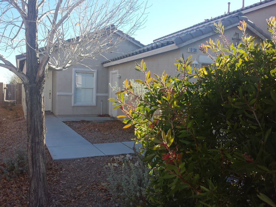 Our home is on a quiet residential street but still close to the strip.