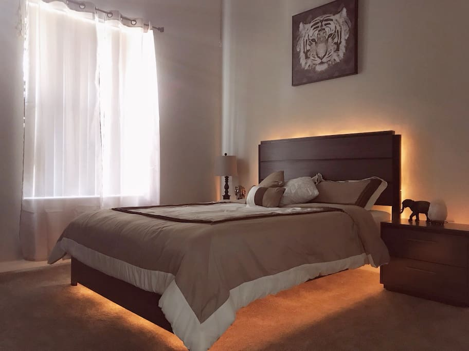 Backlit bed set perfect for use as a night light or for simple ambience!