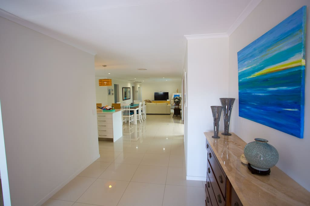From the Front Door into the main living area...Our home is 250 metres from the beach