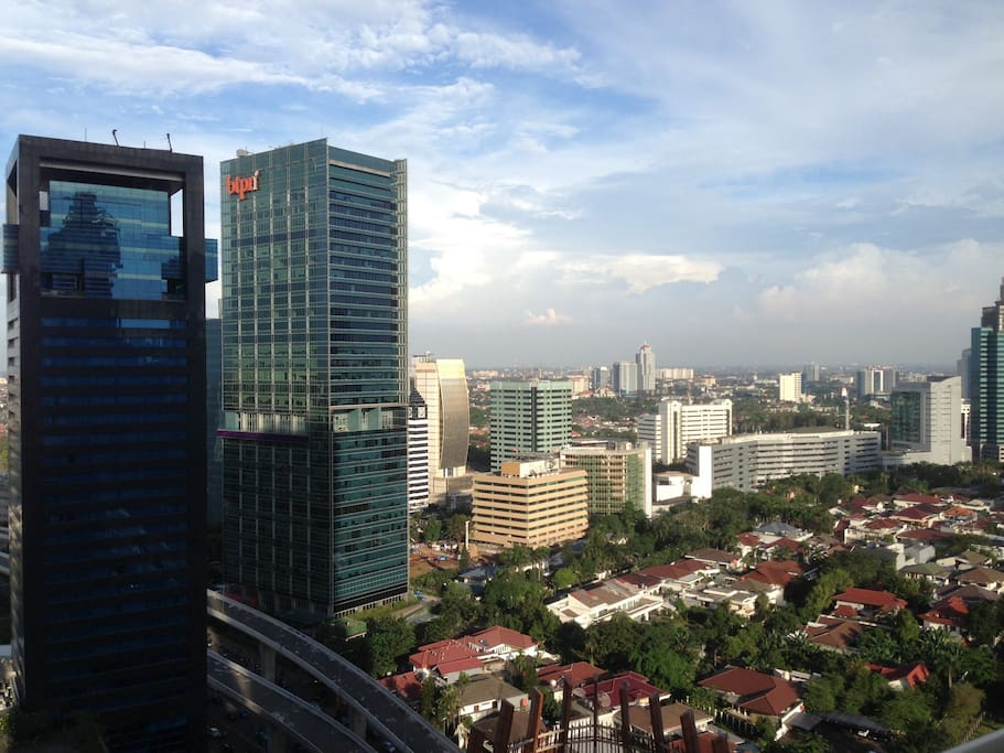 City View from Balcony