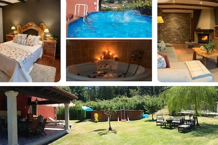 Chalet Rural 400 m playa piscina barbacoa chimenea