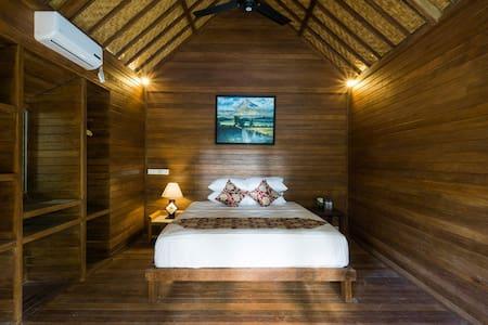 1 Bedroom @D'Lick Lembongan Coconut Wooden Villa2 - Nusapenida - Bungalow