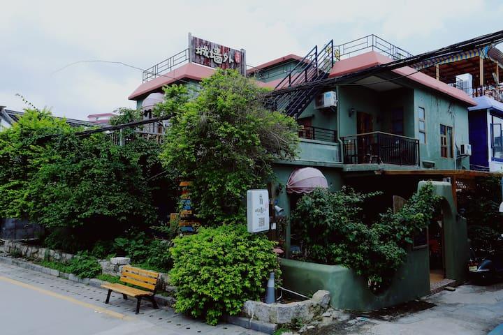 深圳城墙外游多多精品客栈(一号店)---整包 - Shenzhen - Haus