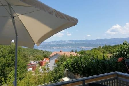 Apartment with sea view in Šilo, Island Krk