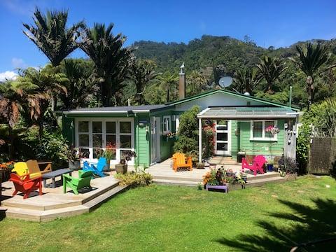 Punakaiki Garden Suite nestled amongst Nikau Palms