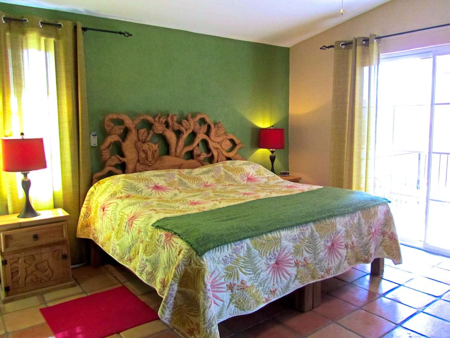 "One of two Master Bedrooms with King Size Bed in the ""La Ventana"" living space."