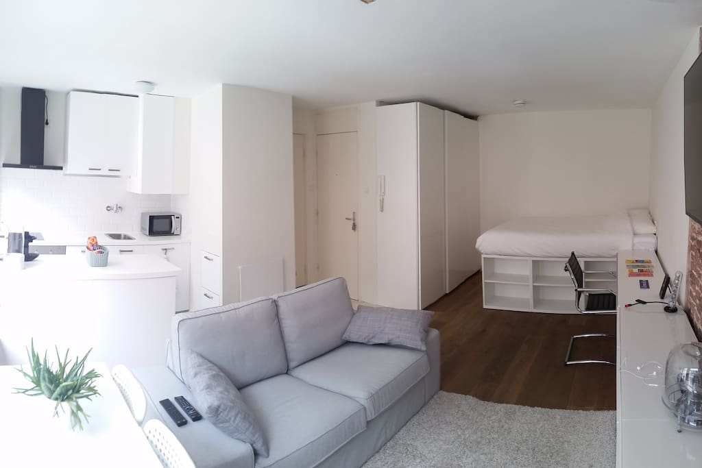 Wide view of the aparment