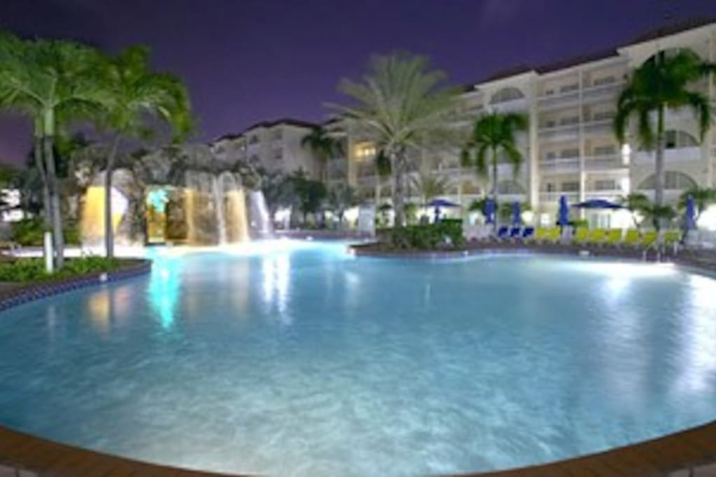 Aruba offers perfect temps for a dip after dark..