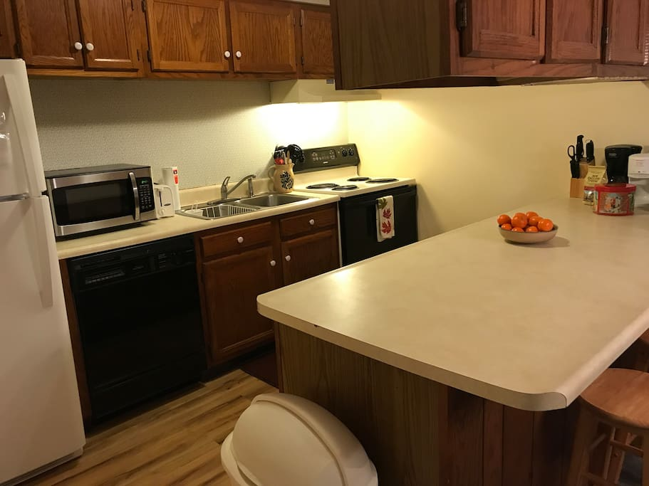 Fully equipped kitchen for home cooked meals!