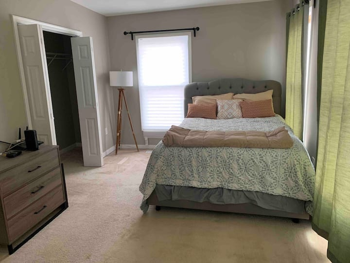 Spacious & Sunny Bedroom in Updated Historic Home