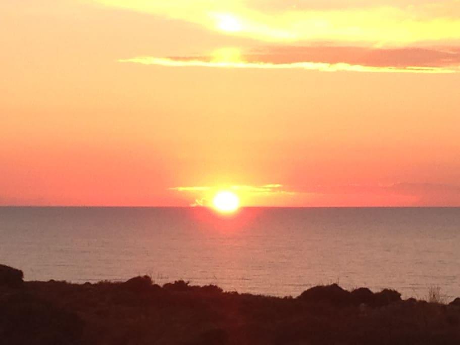 tramonto da casa